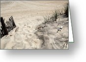Summer Beach Ocean Greeting Cards - Asbury Dunes Greeting Card by John Rizzuto