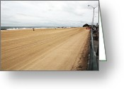 Summer Beach Ocean Greeting Cards - Asbury Park Beach Greeting Card by John Rizzuto