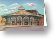 Springsteen Painting Greeting Cards - Asbury Park Carousel House Greeting Card by Melinda Saminski