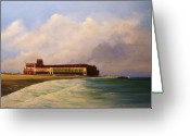 Hall Painting Greeting Cards - Asbury Park Convention Hall Greeting Card by Ken Ahlering