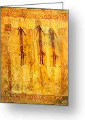 Ethnic Digital Art Greeting Cards - Ascendants and Descendants  Greeting Card by Dale  Witherow