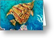 Reef Fish Greeting Cards - Ascending Greeting Card by Sue Duda