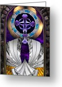 Iconography Painting Greeting Cards - Ascension Greeting Card by Dreams of Alchemy Fine Art