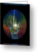 Surreal Art Painting Greeting Cards - Ascension of the Soul Greeting Card by Kd Neeley