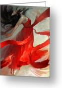 Dancer Art Greeting Cards - Ascension Greeting Card by Steve Goad