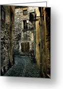 Pavement Greeting Cards - Ascona Greeting Card by Joana Kruse