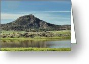 Mound Greeting Cards - Ash Creek Valley Greeting Card by Donna Van Vlack