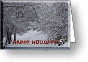Nc Greeting Cards - Asheville Holidays Card Greeting Card by John Haldane