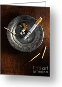 Cigarette Greeting Cards - Ashtray Greeting Card by Carlos Caetano