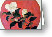 Asian Art Greeting Cards - Asian Floral Greeting Card by Tom Roderick