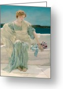 Sat Greeting Cards - Ask me no more Greeting Card by Sir Lawrence Alma-Tadema