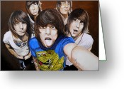 Rock Groups Greeting Cards - Asking Alexandria Greeting Card by Al  Molina
