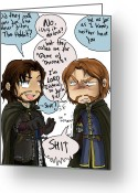 Boromir Digital Art Greeting Cards - ASOIAF and TLOTR Greeting Card by Cristina Collado