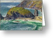 Peninsular Greeting Cards - Asparagus Island Greeting Card by William Holman Hunt