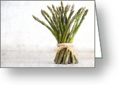 Bunch Greeting Cards - Asparagus vintage Greeting Card by Jane Rix