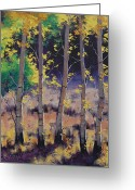 Elm Greeting Cards - Aspen colors Greeting Card by Graham Gercken
