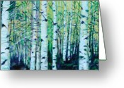 Folage Greeting Cards - Aspen Fall Greeting Card by Ron Patterson