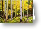 Fall Nature Greeting Cards - Aspen Symphony Greeting Card by Gary Kim
