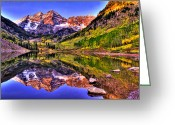 Snow Capped Photo Greeting Cards - Aspen Wonder Greeting Card by Scott Mahon