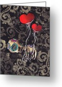 Skull Painting Greeting Cards - Asphyxiated Greeting Card by  Abril Andrade Griffith