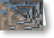 Aspiration Greeting Cards - Aspiration Cubed 3 Greeting Card by Tim Allen