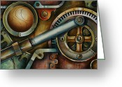 Chains Greeting Cards - Assembled Greeting Card by Michael Lang