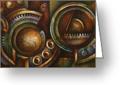 Gears Greeting Cards - Assembly Required Greeting Card by Michael Lang