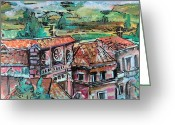 Assisi Greeting Cards - Assisi Italy Greeting Card by Mindy Newman