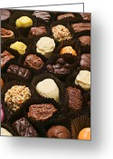Chocolate Greeting Cards - Assorted candy Greeting Card by Garry Gay