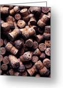 Stopper Greeting Cards - Assorted champagne corks Greeting Card by Garry Gay