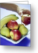 Selecting Greeting Cards - Assorted Fruit Greeting Card by David Munns
