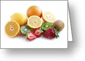 Citrus Fruits Greeting Cards - Assorted fruit Greeting Card by Elena Elisseeva