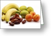 Apricots Photo Greeting Cards - Assorted Fruits Greeting Card by Martyn F. Chillmaid