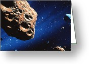 Amor Photo Greeting Cards - Asteroid On Collision Course With Earth Greeting Card by Joe Tucciarone