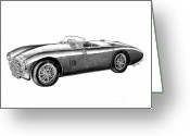 Hot Rod Drawings Greeting Cards - Aston Martin DB-5 Greeting Card by Peter Piatt