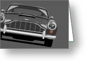 Canvas Greeting Cards - Aston Martin DB5 Greeting Card by Michael Tompsett