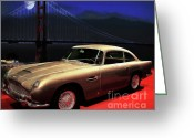 Car Ornaments Greeting Cards - Aston Martin DB5 Greeting Card by Wingsdomain Art and Photography