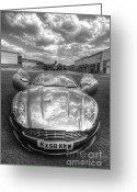 James Bond Greeting Cards - Aston Martin DBS Greeting Card by Yhun Suarez