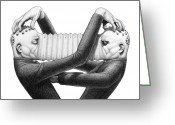 Piazzolla Greeting Cards - Astor and Pollux Greeting Card by Shawn Feeney