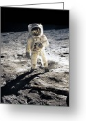 Program Greeting Cards - Astronaut Greeting Card by Photo Researchers