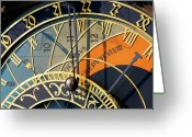 Kg Greeting Cards - Astronomical Clock Prague Greeting Card by KG Thienemann