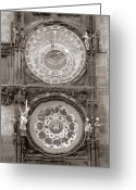 Orloj Greeting Cards - Astronomical Clock Prague Greeting Card by Tom Wurl