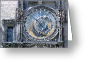 Orloj Greeting Cards - Astronomical Clock, Prague Greeting Card by Victor De Schwanberg