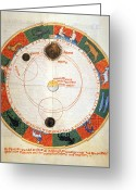 Ptolemaic Greeting Cards - Astronomy: A Zodiac Greeting Card by Granger