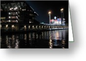 Baseball Parks Photo Greeting Cards - AT and T Park Greeting Card by Brian Orion