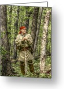 Frontier Art Greeting Cards - At Home in the Forest Greeting Card by Randy Steele