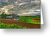 Stormy Skies Greeting Cards - At One With the Land Greeting Card by Steve Harrington