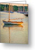 Harbors Greeting Cards - At Rest Greeting Card by Michael Petrizzo