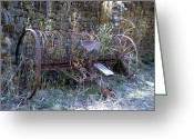 Plowing Greeting Cards - At Rest Now Greeting Card by Richard Reeve