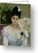 Evening Dress Greeting Cards - At The Ball Greeting Card by Berthe Morisot